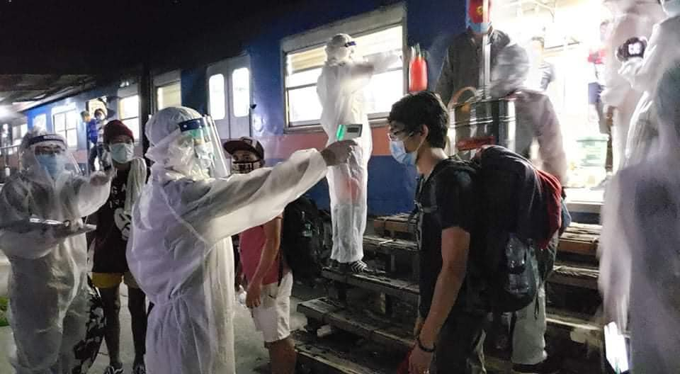 150+ LSIs arrived in Bicol from Manila via train