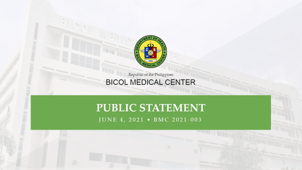 Bicol Medical Center COVID-19 facilities already full, will start limiting patients
